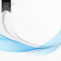 stylish blue wave shape background