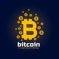 digitale bitcoin crypto valuta vector achtergrond
