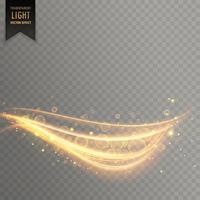 Efecto de luz transparente con estilo en el fondo de estilo con curvas