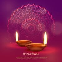 belle fête hindoue de diwali fond de vecteur