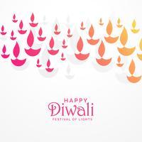 schöne lebendige Diwali Grußkarte Design