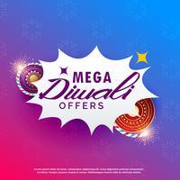 Diwali Verkauf Hintergrund mit Cracker lebendigen Hintergrund