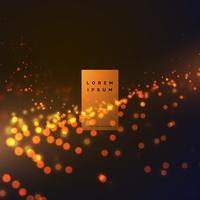 bokeh abstrait fond effet de particules avec des couleurs chaudes