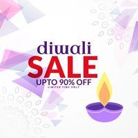 abstrakter Diwali-Verkaufshintergrundentwurf mit Diya