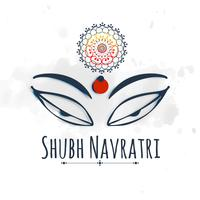 shubh (happy) navratri celebration design with maa durga beautif