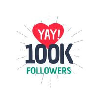 Successo di 100k follower nei social media