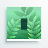 nature verte arrière-plan de conception de page de garde
