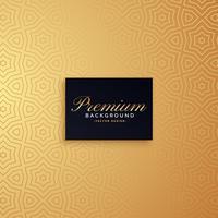 goldenes erstklassiges Musterhintergrunddesign