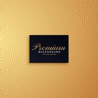 diseño de fondo patrón oro premium