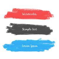 ensemble de trois conception de bannière de trait aquarelle