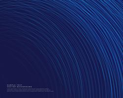 sfondo scuro con linee curve blu vettoriale