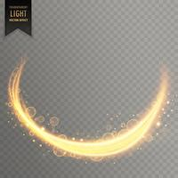 Fondo de efecto dorado streal luz transparente