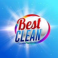 rengöringsmedel eller tvättmedel förpackningsdesignkoncept t
