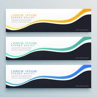 abstracte golvende banner ontwerp achtergrond. website header concept