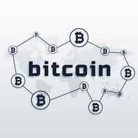 konceptdesign av globalt bitcoin valutanätverk