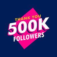 500k seguidores gracias mensaje en estilo funky