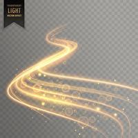 Fondo de efecto de luz transparente rastro
