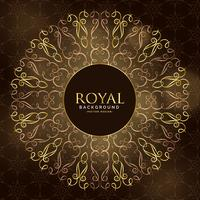 golden royal mandala ornamental decoration