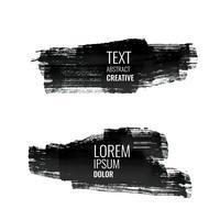 uppsättning abstrakta svarta akvarellslagbanderier