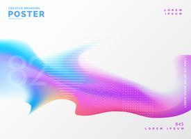 Fondo de plantilla de diseño de cartel de color fluido