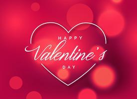 fond de voeux belle Saint Valentin avec effet bokeh