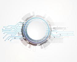 Fondo de tecnología abstracta con estructura de estilo de placa de circuito