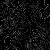 Fondo de líneas de mapa topográfico negro