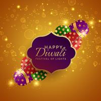 sparkling diwali festival crackers vector background