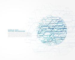 fundo de linhas de rede de tecnologia abstrata