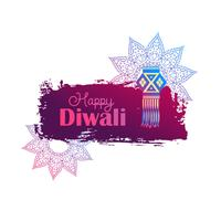 happy diwali background with hanging lamp