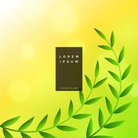 nature leaves green vector background