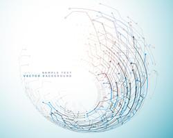 Fondo de concepto de tecnología de red futurista