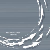 Flechas que se mueven en diseño de concepto de forma circular