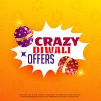 diwali verkoop en biedt posterontwerp met festivalcrackers