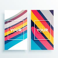 colorful stripes vector vertical card design