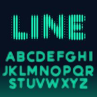 fuente del alfabeto hecha con líneas en negrita