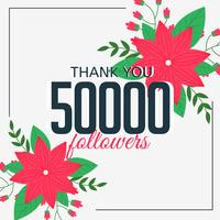 50000 follower online seguiti dai social media