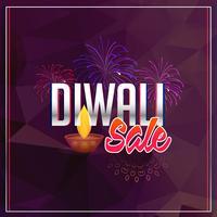 fond de vente de diwali avec feux d'artifice