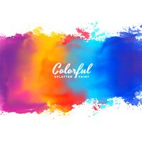 watercolor background hand paint splash in many colors