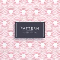 pink hexgonal shape pattern background vector