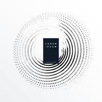 diseño de fondo circular de semitono mínimo