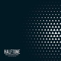 svart triangel halvtons vektor bakgrund
