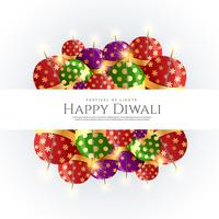 Diwali crackers bombes vector design fond