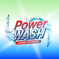 Tvättmedel produkt förpackning koncept design mall