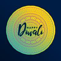 belle décoration de mandala pour le festival de diwali