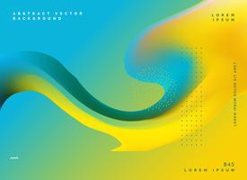 Plantilla de cartel de diseño de fondo de malla color amarillo fluido