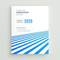 elegant business brochure poster design with blue stripes