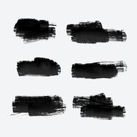 six grunge paint stroke set