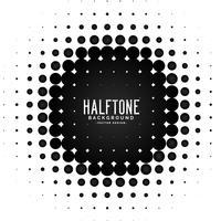 Vektor Halbton Kreis Frame Hintergrund
