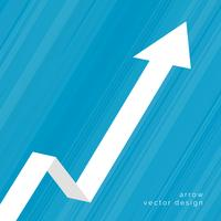 upward moving arrow business background